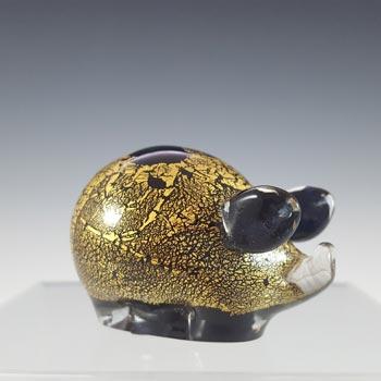 Isle of Wight Studio 'Azurene Gold' Glass 'Minimals' Pig