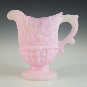 Portieux #3891 French Victorian Pink Milk Glass 'Louis XV' Creamer / Jug