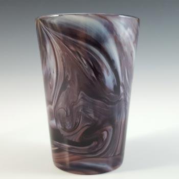 Davidson Victorian 1890's Malachite / Slag Glass Tumbler - Marked