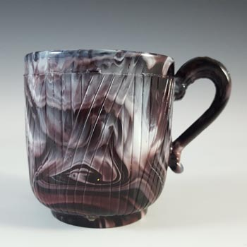 Sowerby #1400 Victorian Purple Malachite / Slag Glass Cup