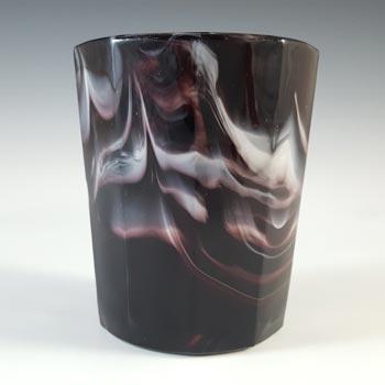 Sowerby Victorian Purple Malachite / Slag Glass Tumbler