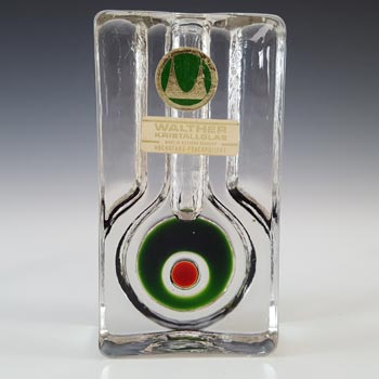 LABELLED Walther Kristallglas German Solifleur Glass Stem Vase