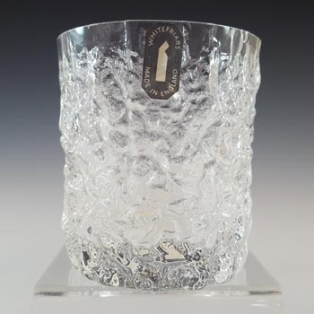 Whitefriars #M32 Textured Glass Glacier Whisky Tumbler - Labelled