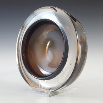 Whitefriars #9665 Cinnamon Brown Glass Vintage Bowl / Ashtray