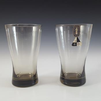 Whitefriars #M104 William Wilson Smokey Glass Tumblers