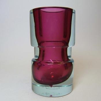 Seguso Vetri d'Arte #14151 Purple & Blue Sommerso Glass Vase