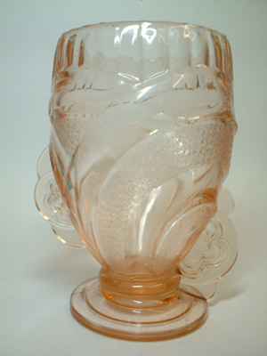 Sowerby Large Art Deco 1930's Pink Glass Vase