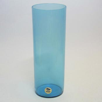 Ekenas Swedish/Scandinavian Blue Glass Vase Labelled