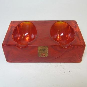 Holmegaard Pipe Rest in Orange Glass by Olsson & Rude #341 45 72