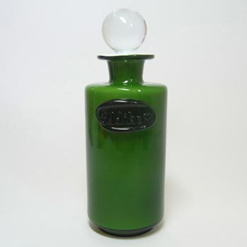 Holmegaard Palet Green Cased Glass 'Eddike' Bottle by Michael Bang