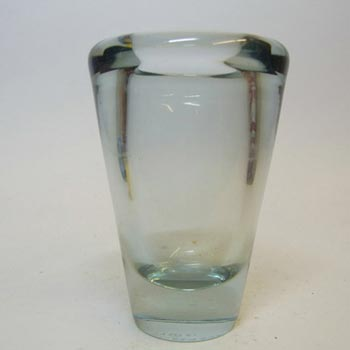 Holmegaard #16510 'Umanak' Blue Glass Vase by Per Lutken - Signed