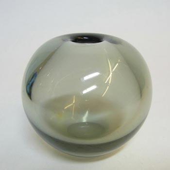 Holmegaard #15729 Smokey Glass 'Rondo' Vase by Per Lutken - Signed