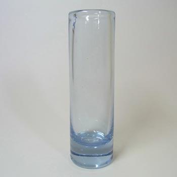 Holmegaard #16911 Blue Glass Vase by Per Lutken - Signed