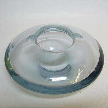 Holmegaard 1960's Per Lutken Blue Glass Bowl Signed