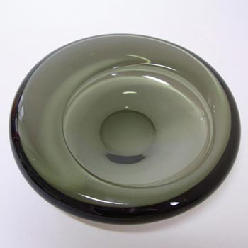 Holmegaard #16039 Per Lutken Smokey Glass Bowl - Signed