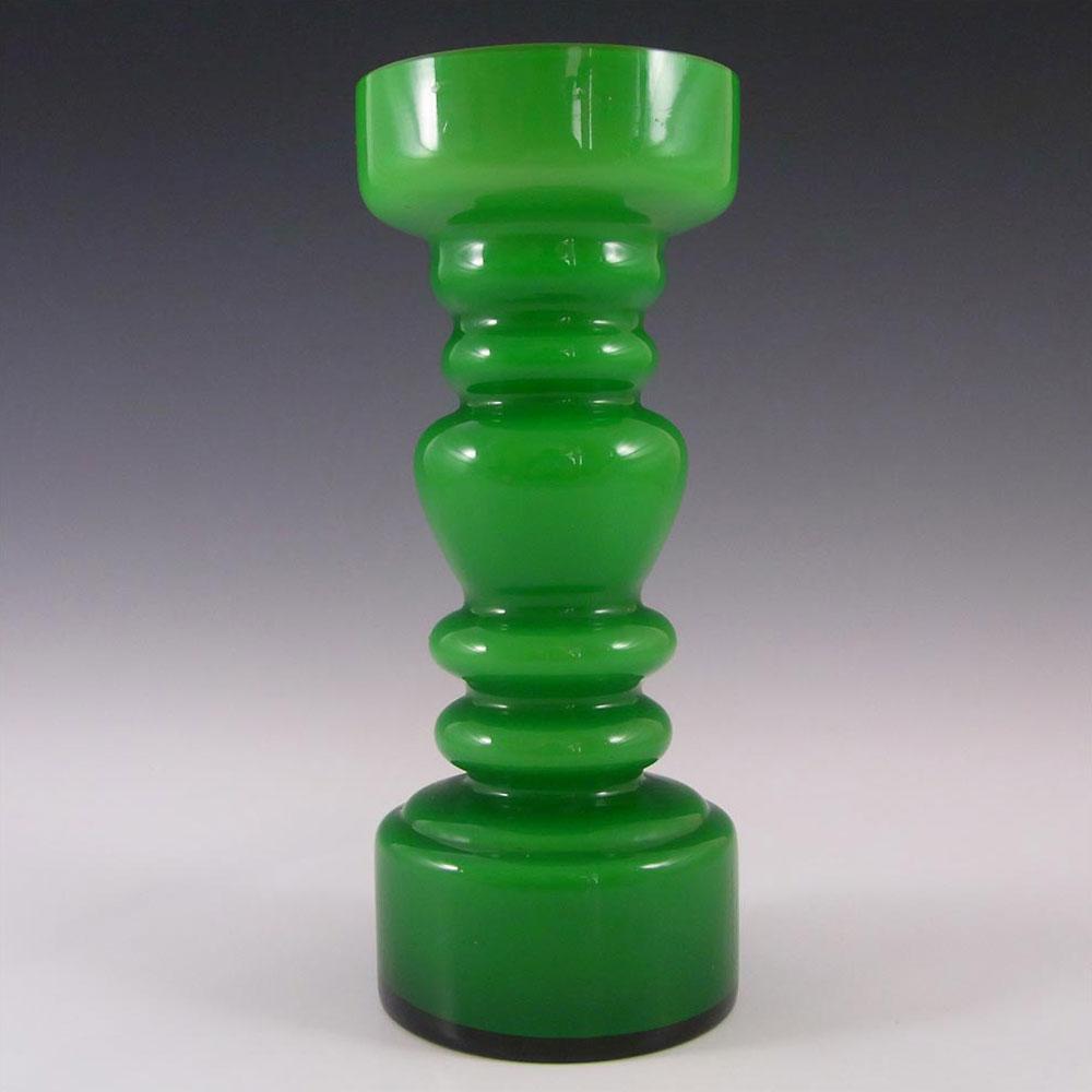 Japanese Green Cased Hooped Glass Vase - Swedish Style
