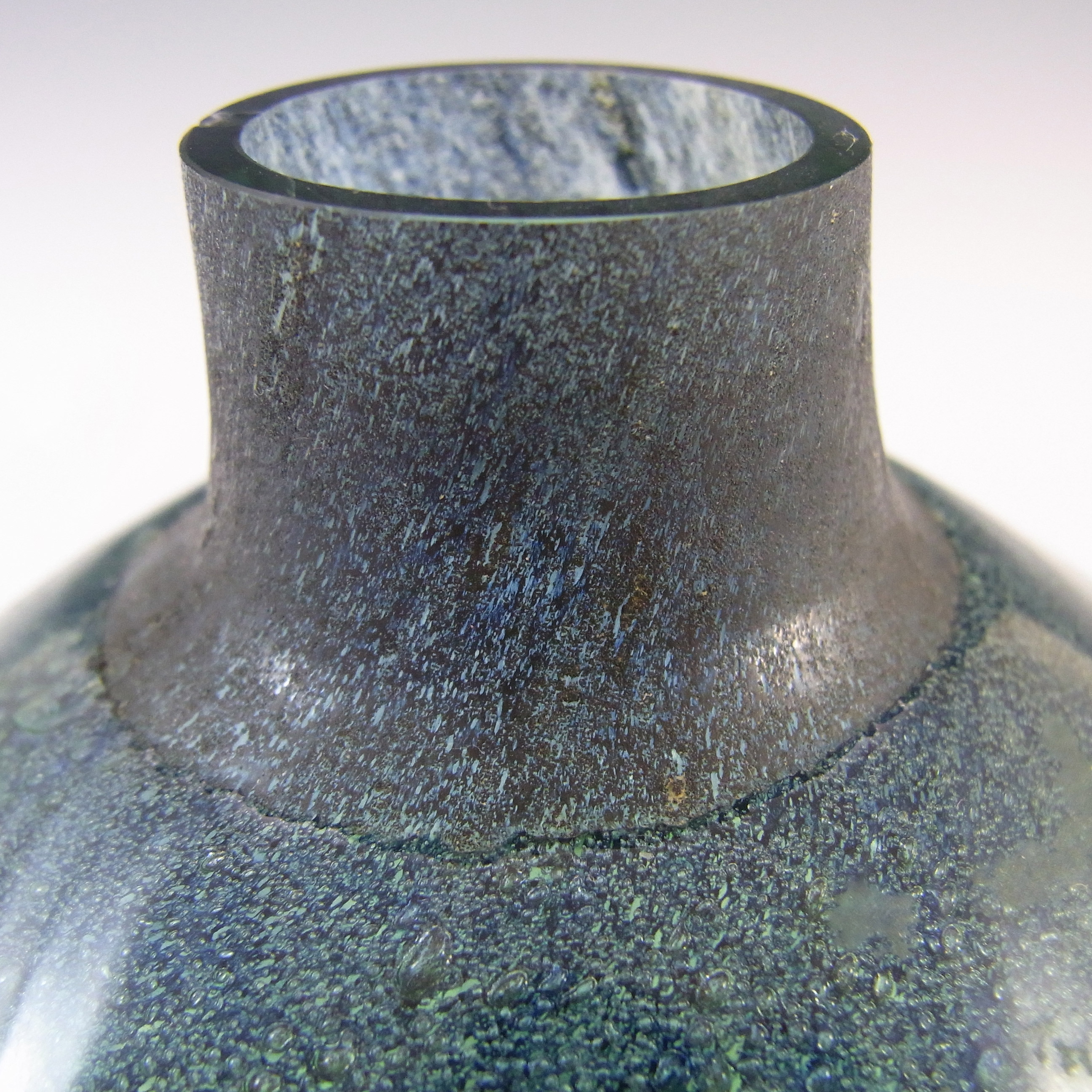 LABELLED Randsfjord Norwegian Glass Vase by Benny Motzfeldt - Click Image to Close