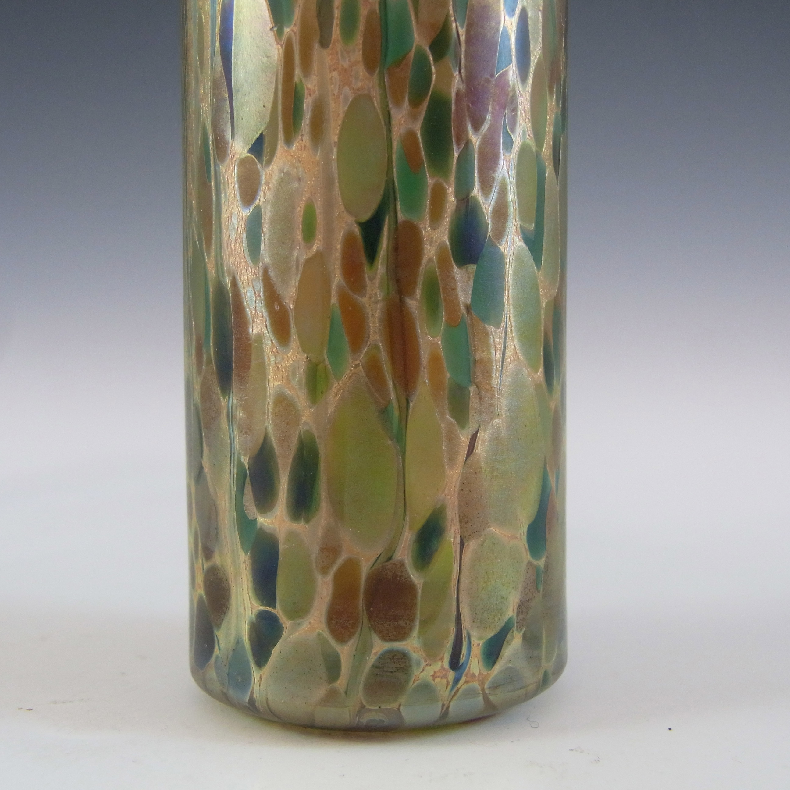 Isle of Wight Studio 'Summer Fruits' Goldberry Glass Vase - Click Image to Close