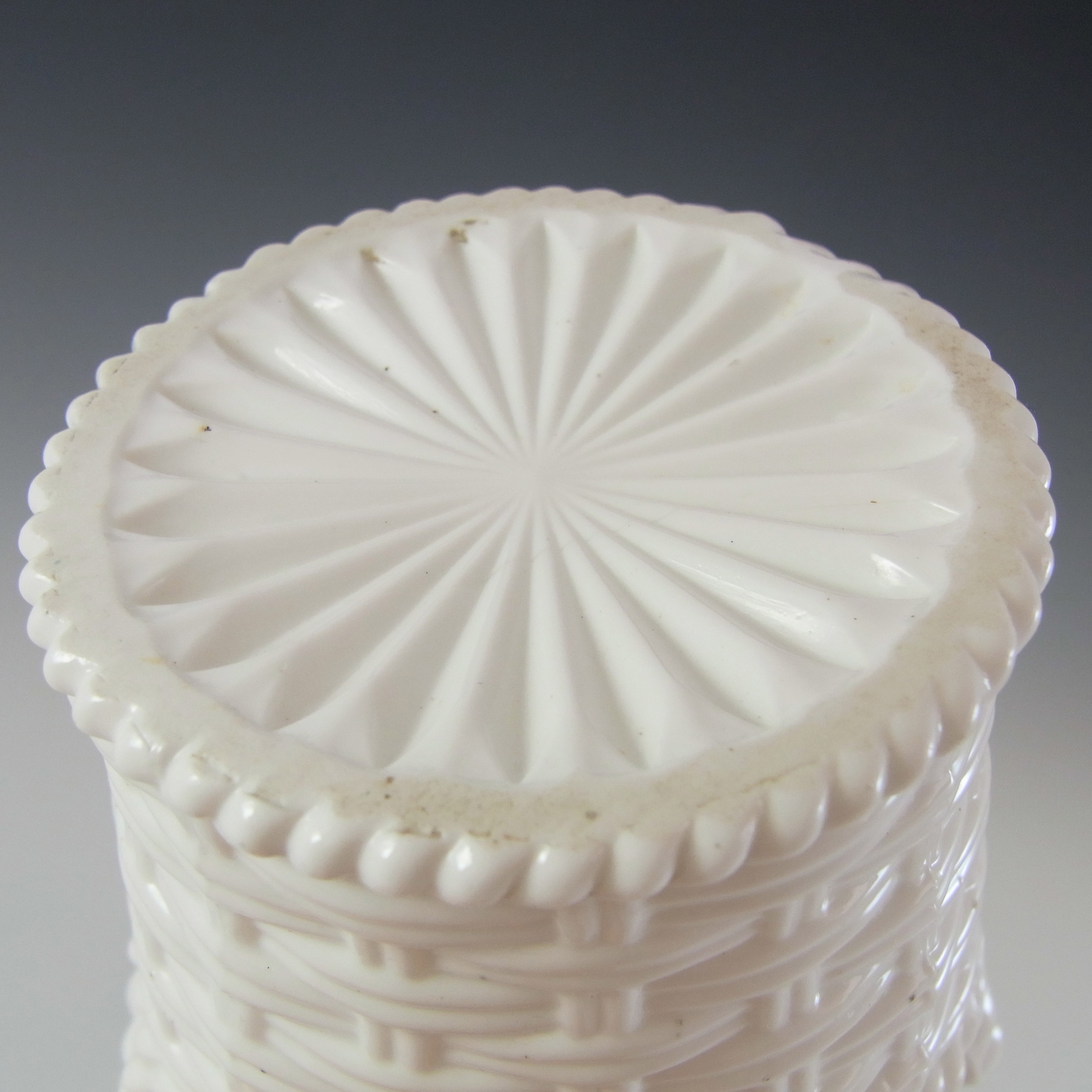 Sowerby #1102 Victorian White Milk Glass Basket Bowl - Marked - Click Image to Close