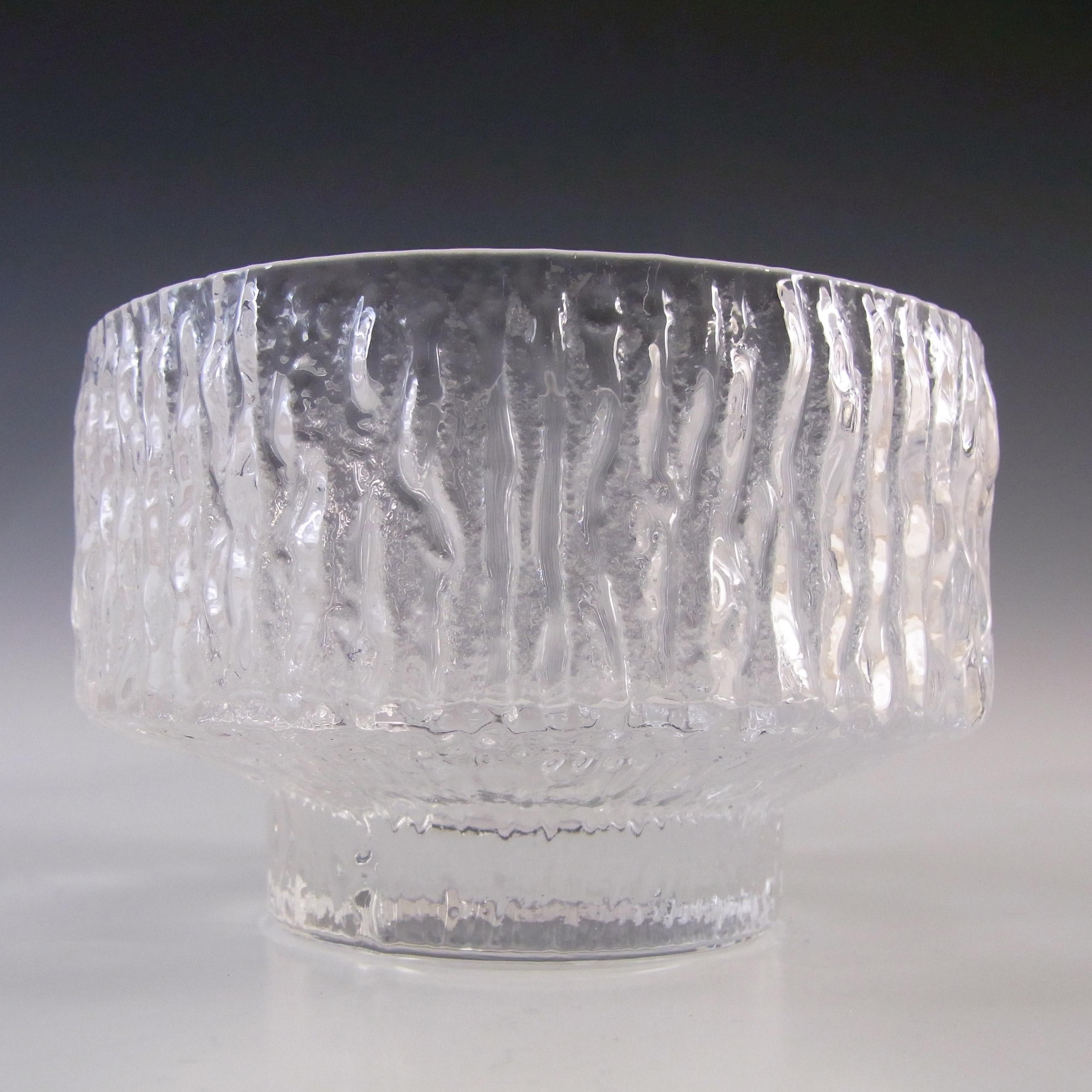 Whitefriars #M136 Geoffrey Baxter Textured Glass Fruit Bowl