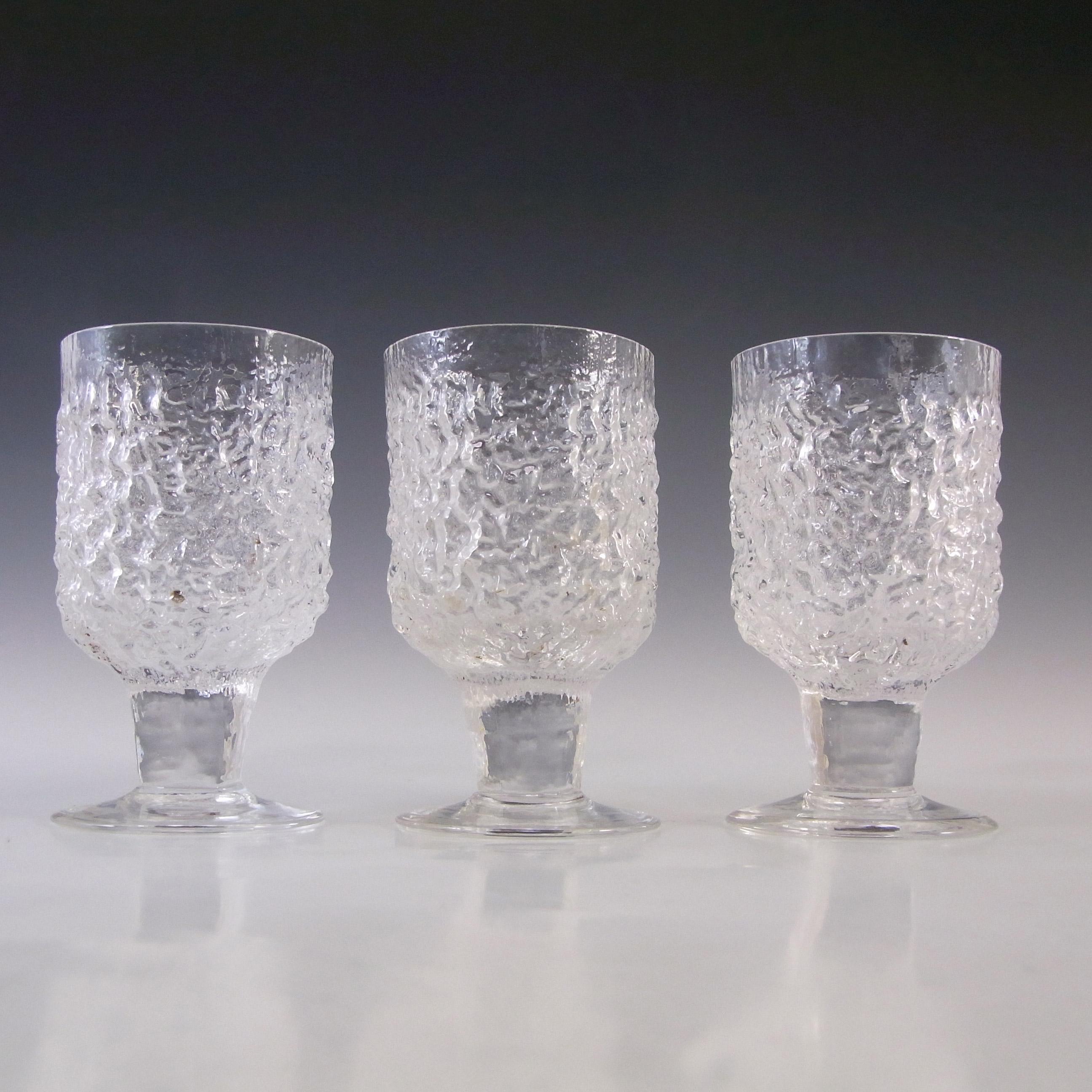 Whitefriars #M155 Geoffrey Baxter Textured Sherry / Wine Glasses