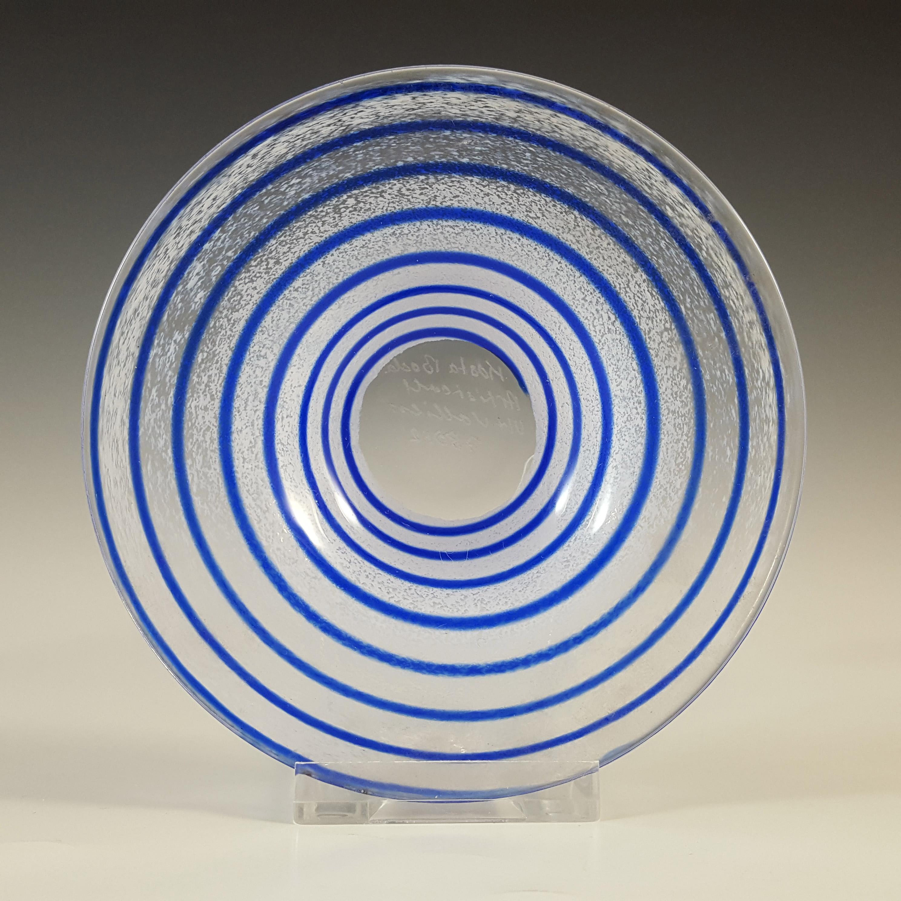 SIGNED Kosta Boda Glass Plate by Ulrica Vallien #78012