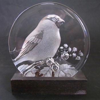 Mats Jonasson / Royal Krona #99154 Glass Bird Sculpture - Signed