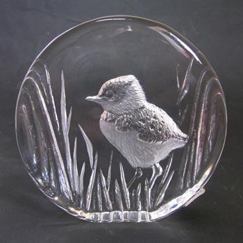 Mats Jonasson #9366 Glass Paperweight Chick Sculpture - Signed
