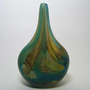 Mdina Frosted Tiger Glass 'Lollipop' Vase - Signed