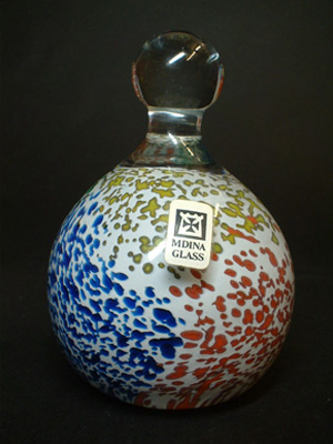 Maltese Mdina Glass Paperweight - Signed & Labelled