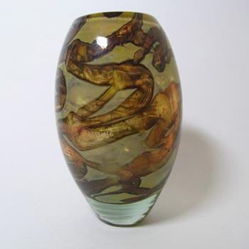 Mdina Sandy Earthtones Glass Vase - Signed & Labelled