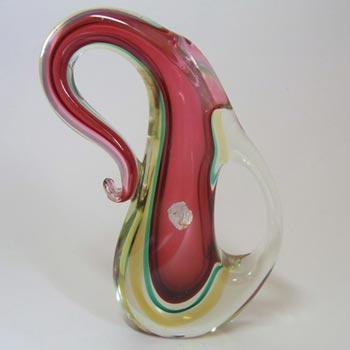 Murano/Venetian Sommerso Pink Glass Vase