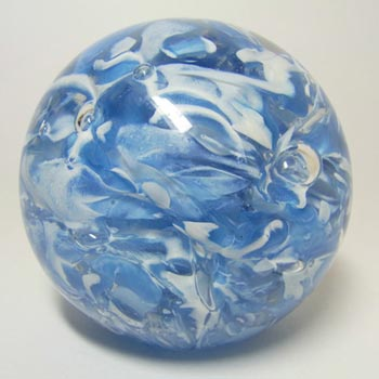 Langham Blue + White Glass Paperweight/Paper Weight