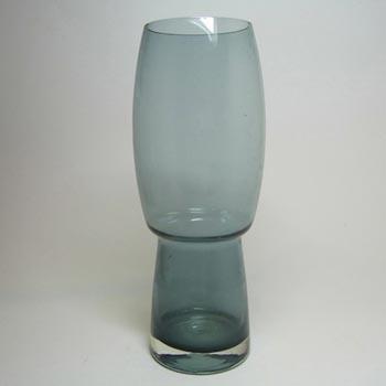 Riihimaki / Riihimaen Lasi Oy Finnish Blue Glass Vase