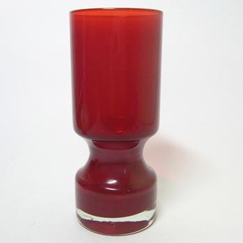 Alsterfors #AV229/16 Scandinavian Red Cased Glass Vase