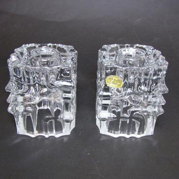 Sklo Union Hermanova Glass Candlesticks Vladislav Urban